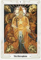 5 Hierophant or Pope Thoth Tarot