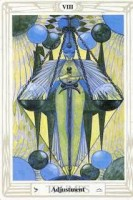 8 Adjustment or Justice Thoth Tarot