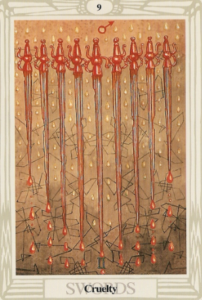 Thoth Nine of Swords Cruelty