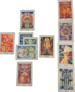 Celtic Cross with Thoth Tarot Cards
